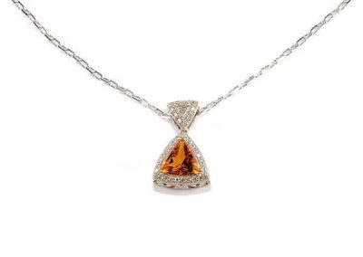 Fire Orange Tri-Citrine pendant