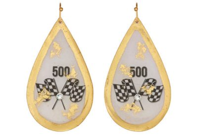 Fashion Teardrop Hook Earrings with Flags $178