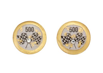 Fashion White Stud Earrings with flags $148
