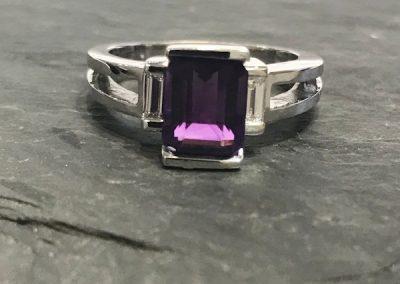 Regal Purple Emerald cut
