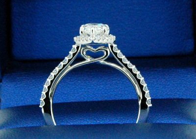 Detailed Darling Heart on Bridge  Pear Engagement