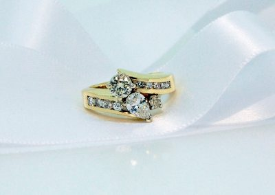 Sentimental Treasure Round and Pear Center Diamonds