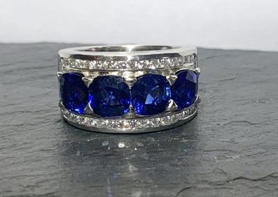 Natural Untreated Round Sapphires with Diamonds