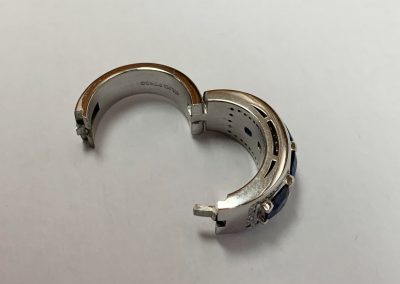 Natural Untreated 4 Round Sapphires with Arthritic Band