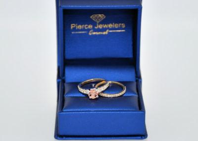 Rare Gorgeous Sapphire and Diamond Wedding Set