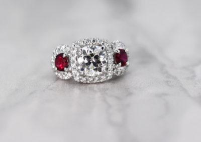 Astonishing Ruby and Diamond Ring