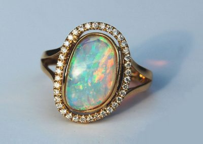 Kaleidoscope of colors Australian Opal ring