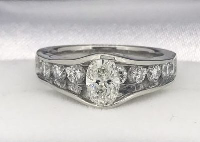 Beautiful bridal with oval center ring