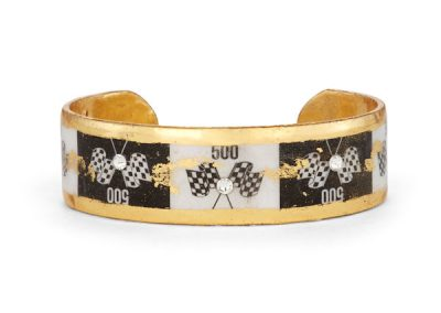 Fashion Black and White Cuff with Flags $248