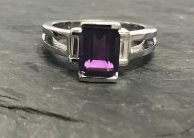 Regal Purple Emerald cut