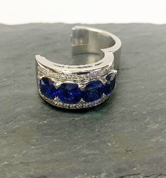 Amazing Untreated Sapphires with New Click-It Band