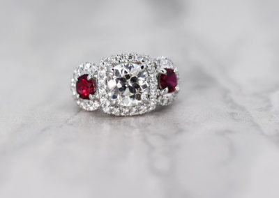 Astonishing Ruby and Diamond Ring