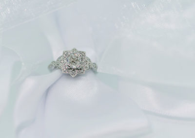 Art Nouveau stlye Diamond Engagement Ring