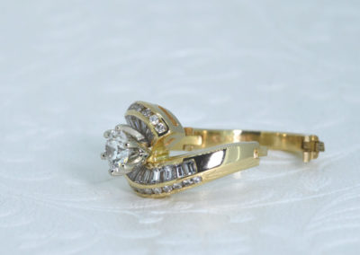 Open Shank Classy Engagement Ring